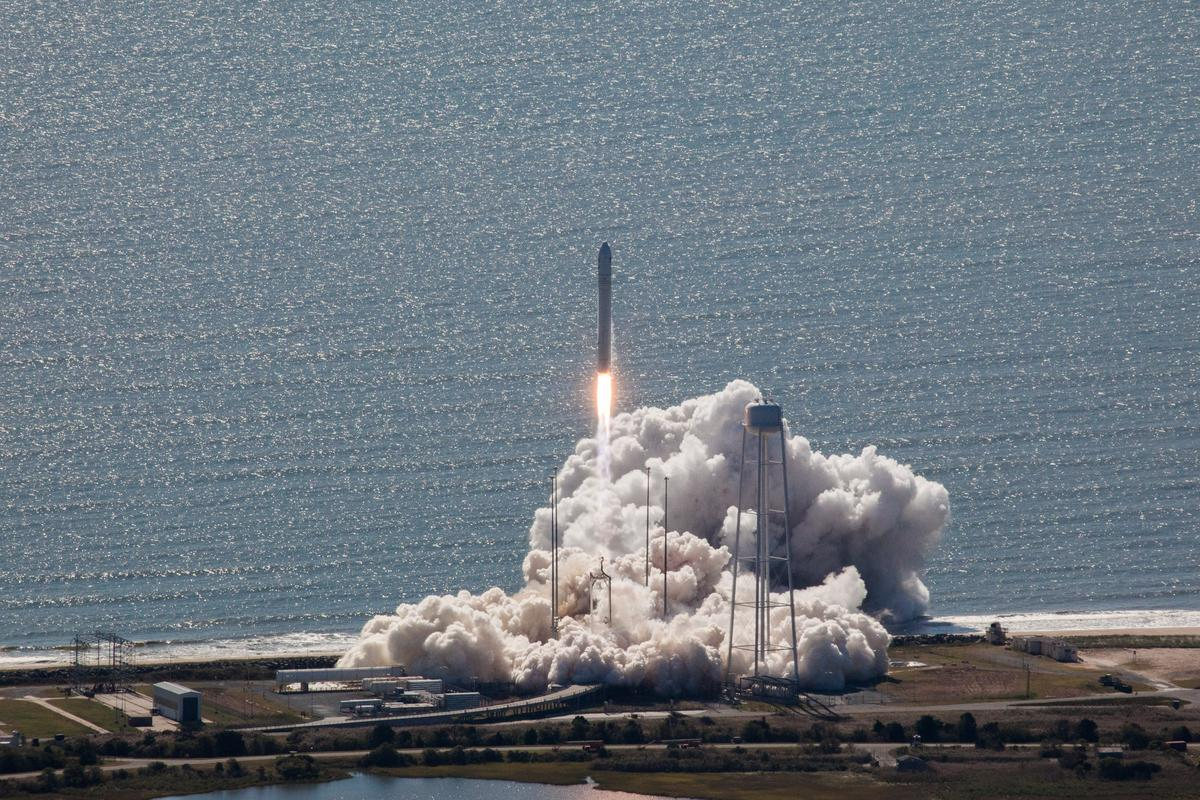 Cygnus lifted off from Wallops Island, Virginia (Image: NASA/Bill Ingalls)