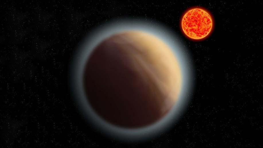 GJ 1132b orbits its star 39 light years away in this artist's impression of the system