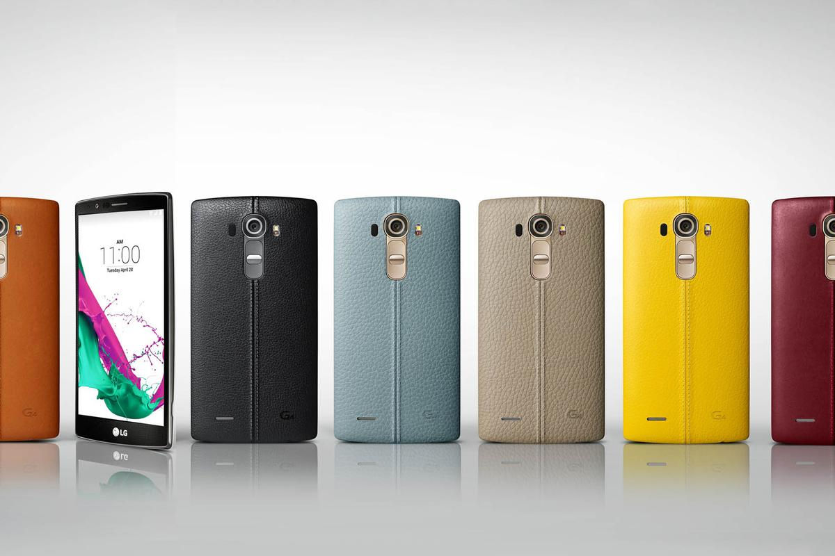 The leather-back options for the LG G4