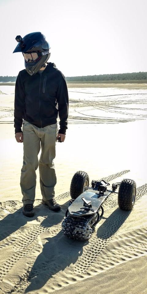 Laying track with the Flux Track 1 all-terrain electric board