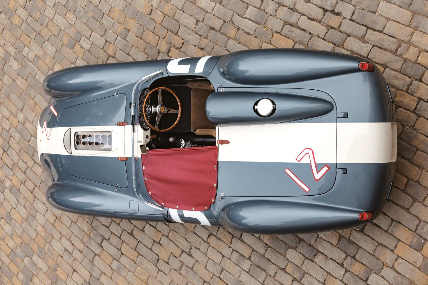 The Ferrari 335S Spider is the ultimate development of the front-engined Ferrari Sports racing Spyder.