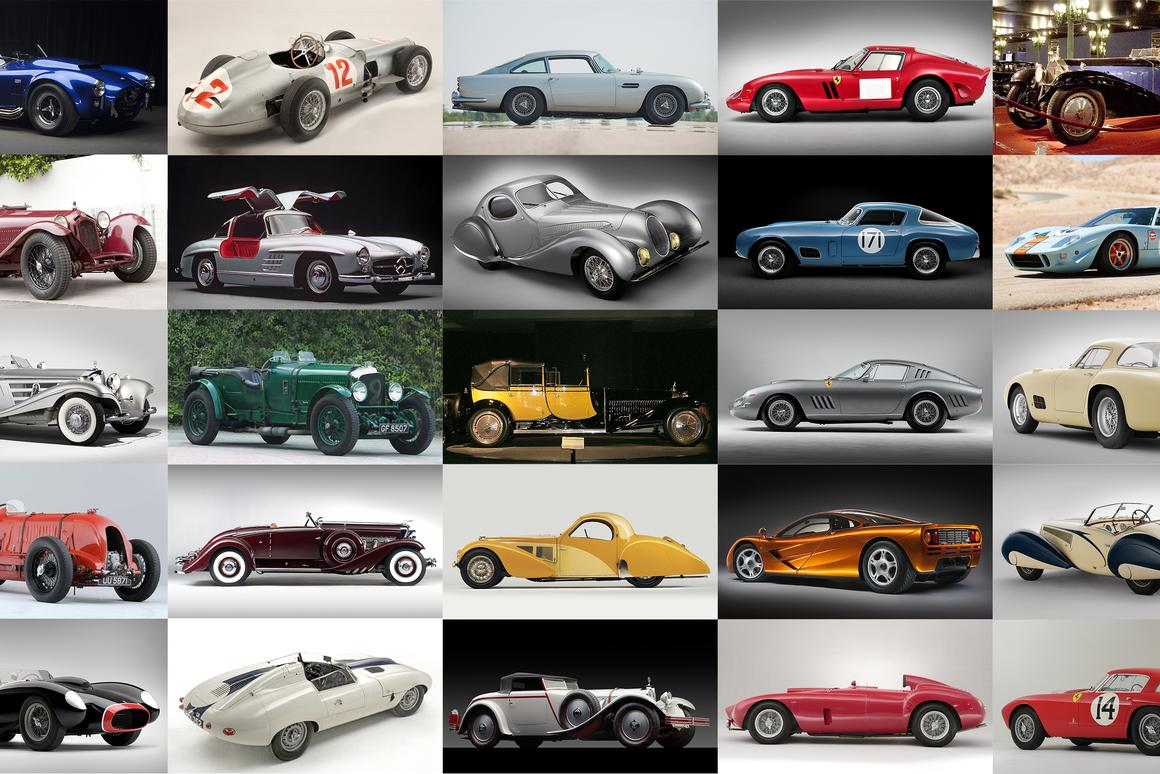 We've assembled the list of the 100 most expensive cars ever sold at auction, all the images, all the links to the official catalogue descriptions, and analysis so that you can see the popular marques and models, which auctioneers get the job done, where they're sold ... a complete snapshot of the hyper-rare car marketplace in one article.