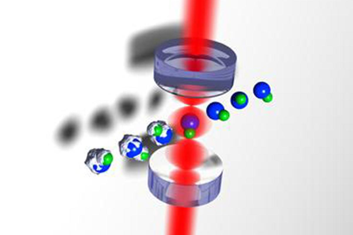 Researchers at Yale University are using laser light to cool molecules (Image: John Barry/DeMille Group)