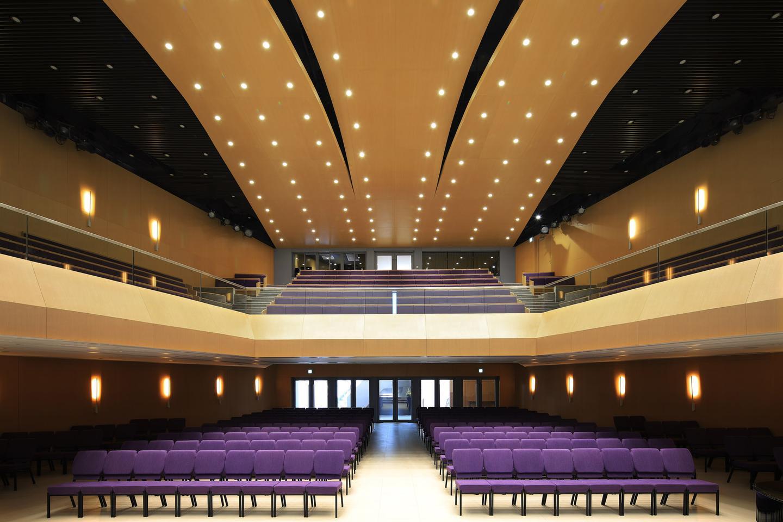Wesleyan House Methodist International Church's interior measures 11,000 sq m (roughly 118,400 sq ft)