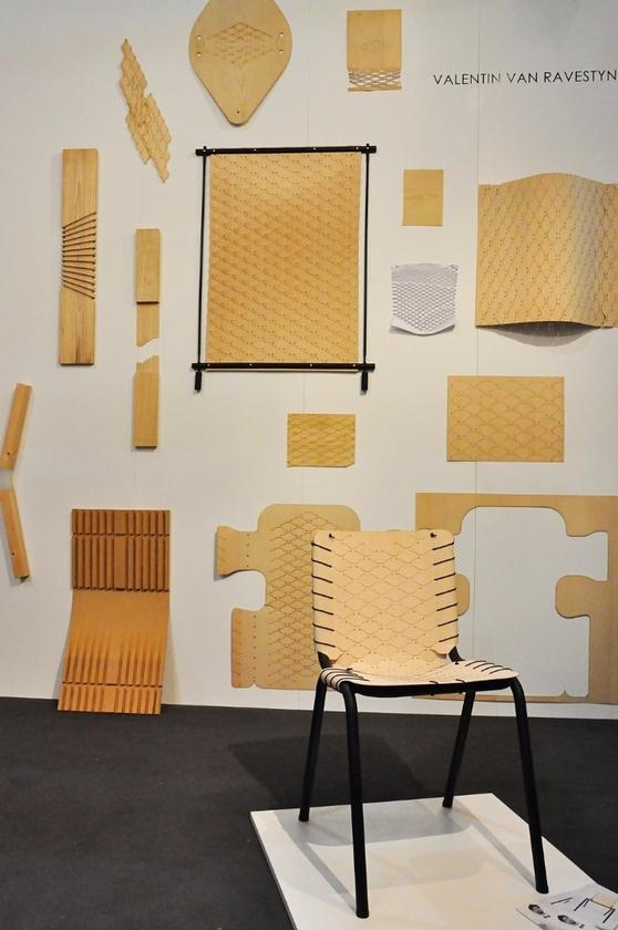 Belgium is Design flat-packed furniture made with thin weaved wooden material