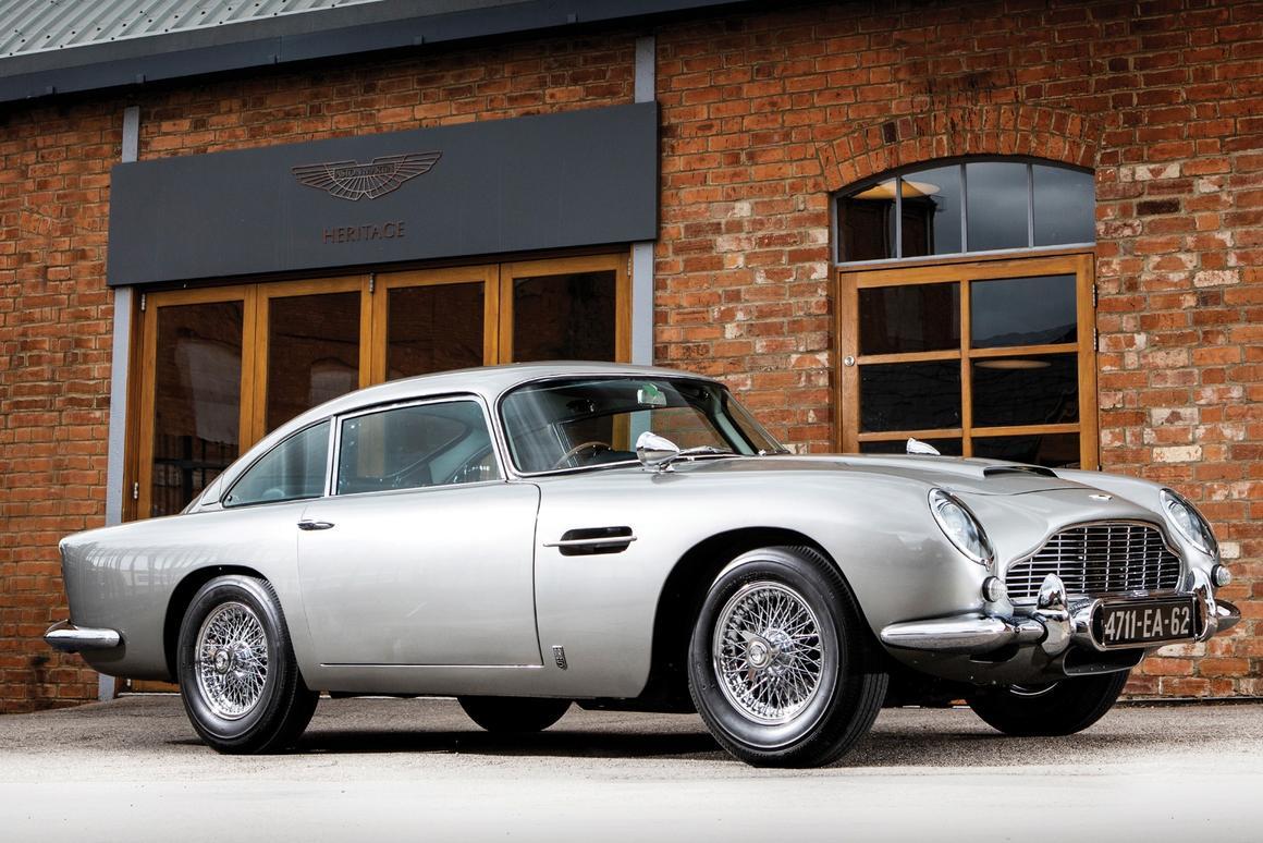 An Original James Bond Goldfinger Aston Martin Db5 Heads