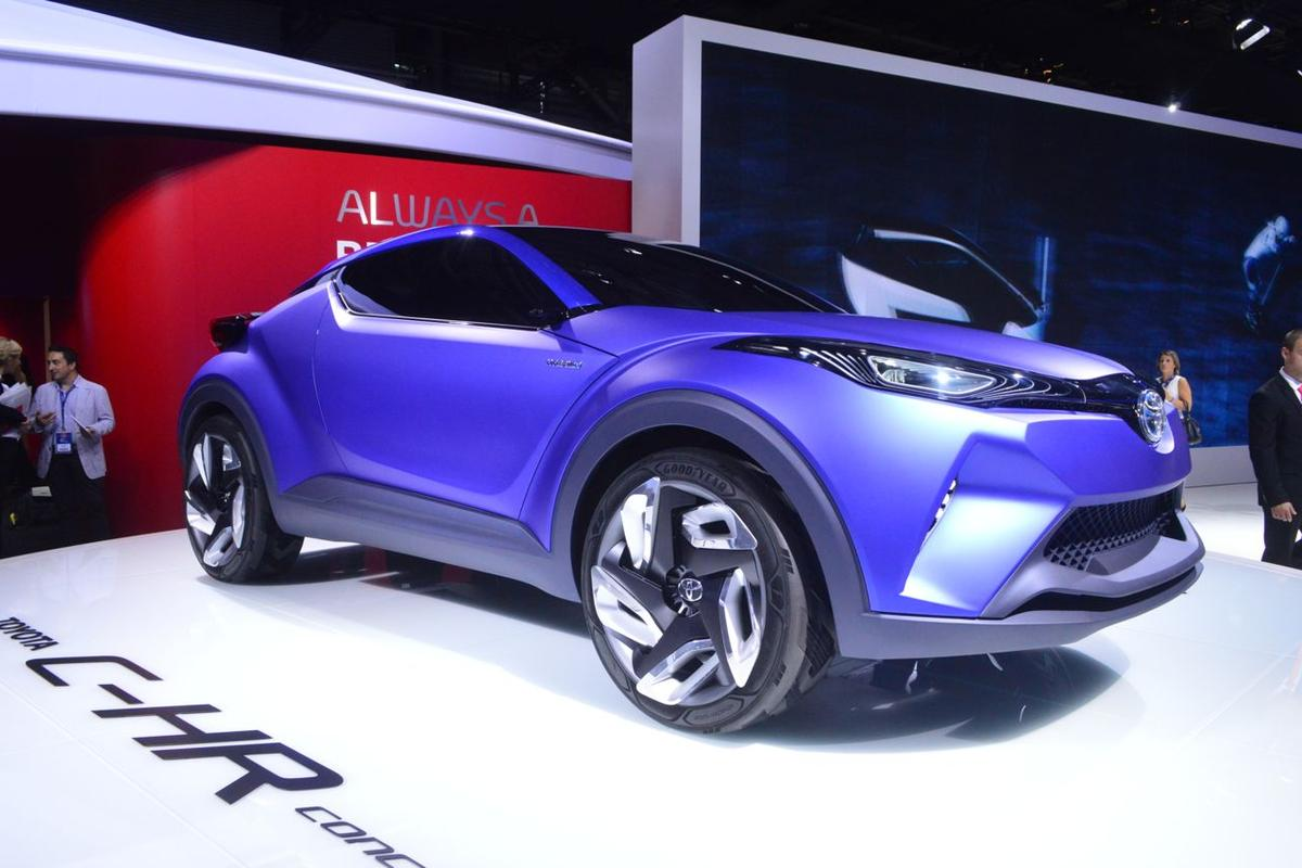 Toyota's C-HR on display in Paris (Photo: C.C. Weiss/Gizmag)