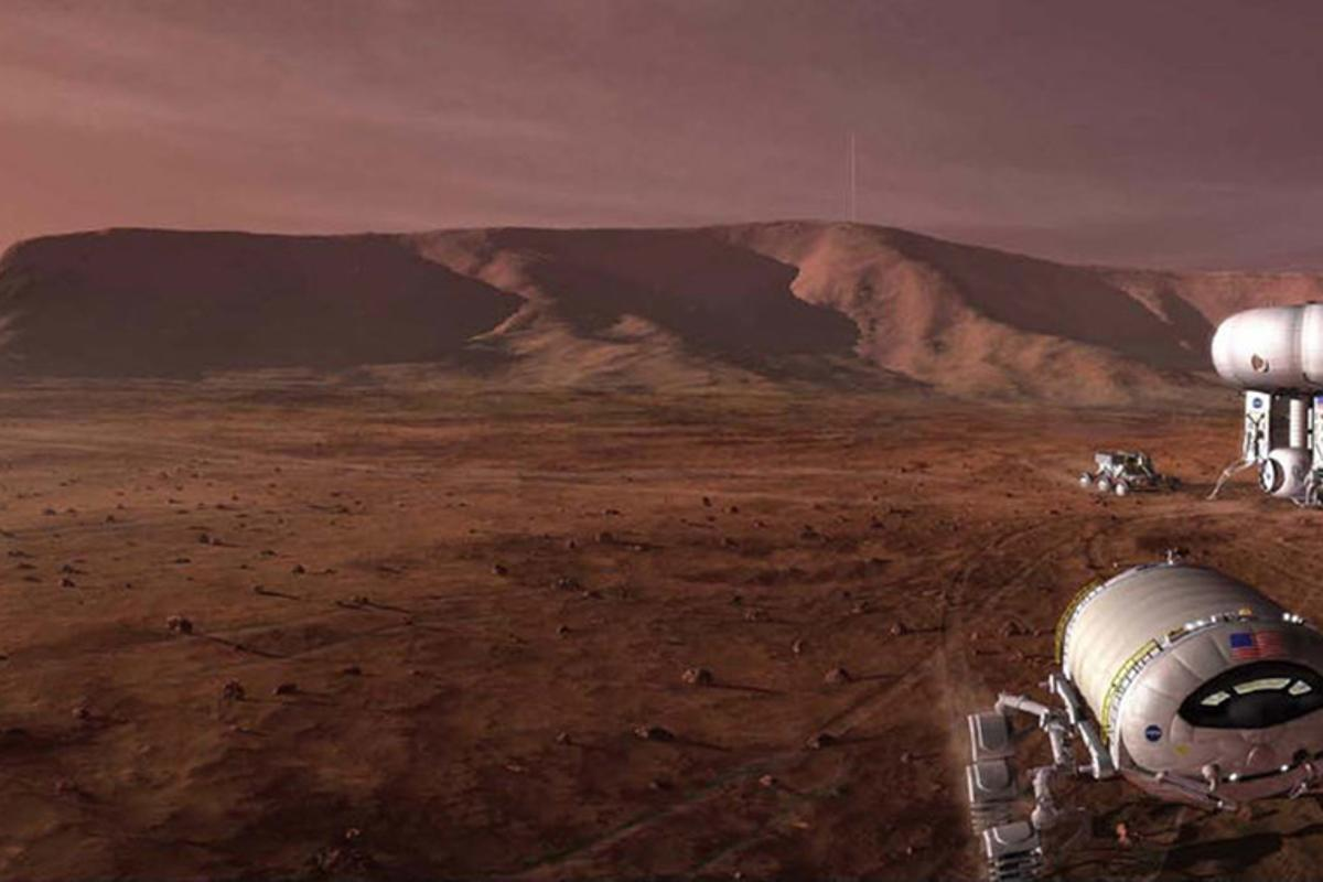 In the future, the fruit of the research could allow for the creation of manned colonies on Mars (Image: NASA)