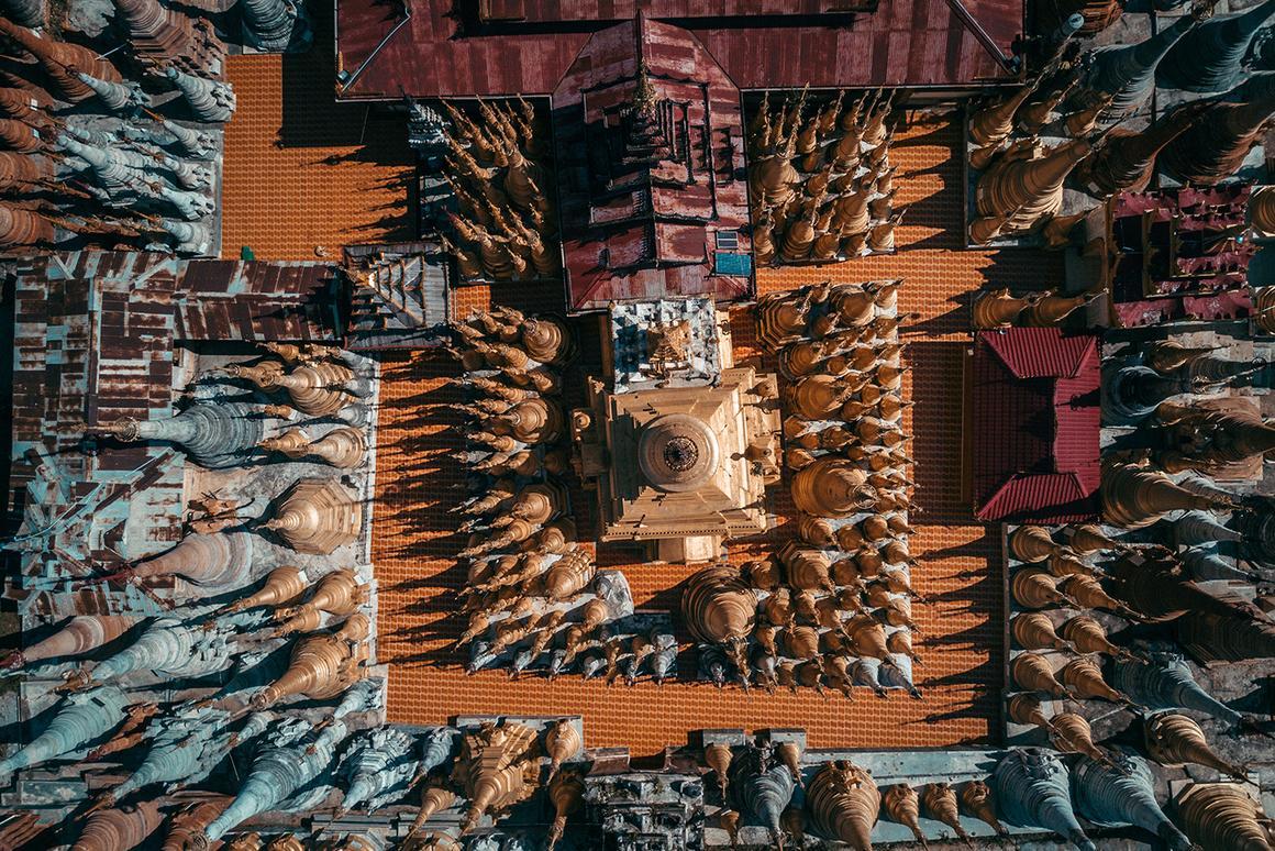 Temples in Myanmar. (Credit:Dimitar Karanikolov /BehanceCC BY-NC-ND 4.0)