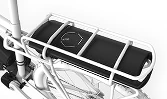 The 400 Wh rear rack battery is one of three options
