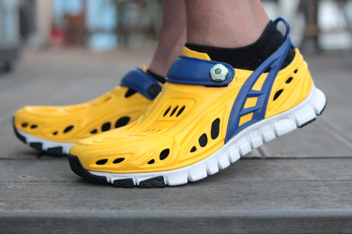 Wearing the Crosskix shoes for running