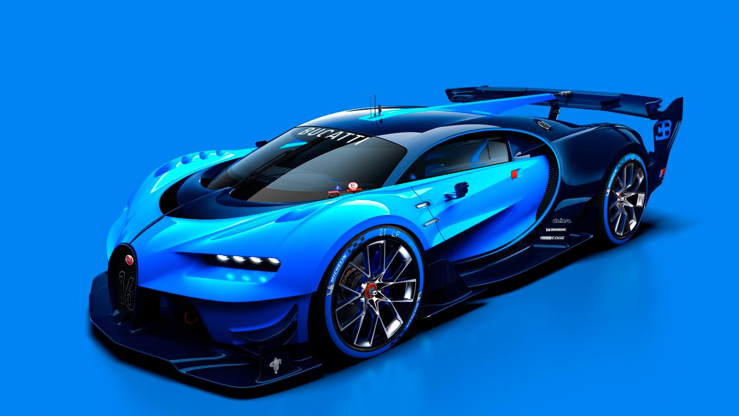 The Vision Gran Turismo is highly reminiscent of the Veyron, but its front-end does have some distinctive revisions