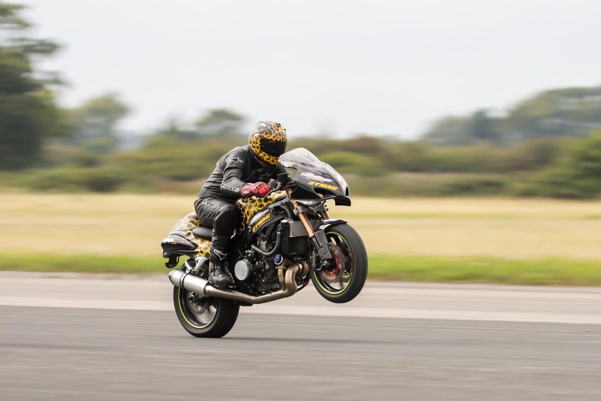 Gary Rothwell's world record-breaking 209 mph wheelie