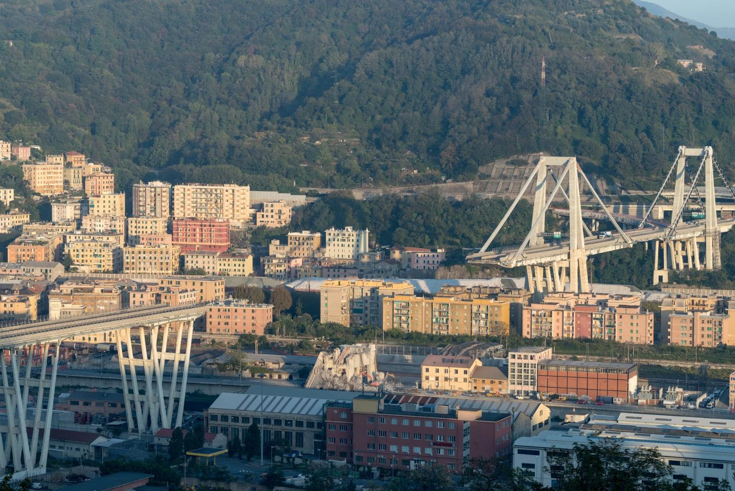 Satellite radar imaging was able to detect signs of warping that preceded the collapse of the Morandi Bridge on August 14, 2018