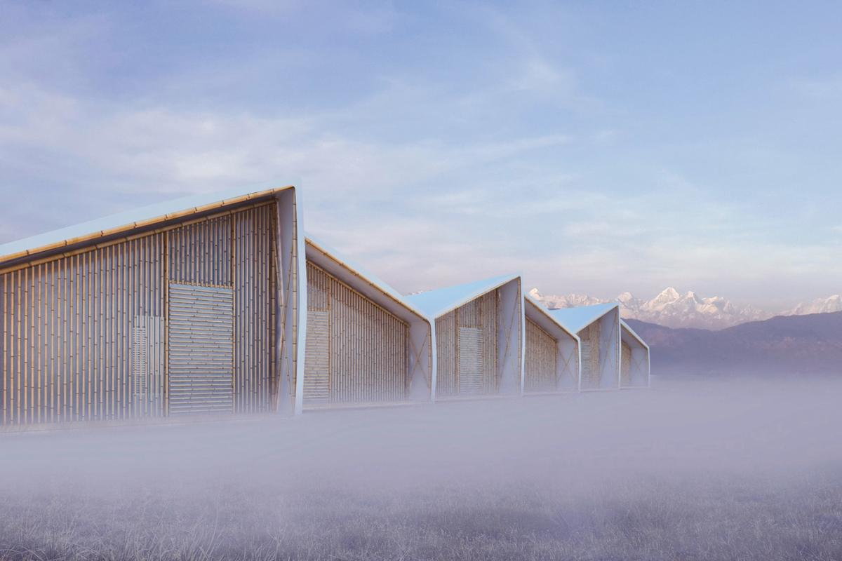 The concept shelter was designed for a disaster housing competition and is dubbed Just a Minute