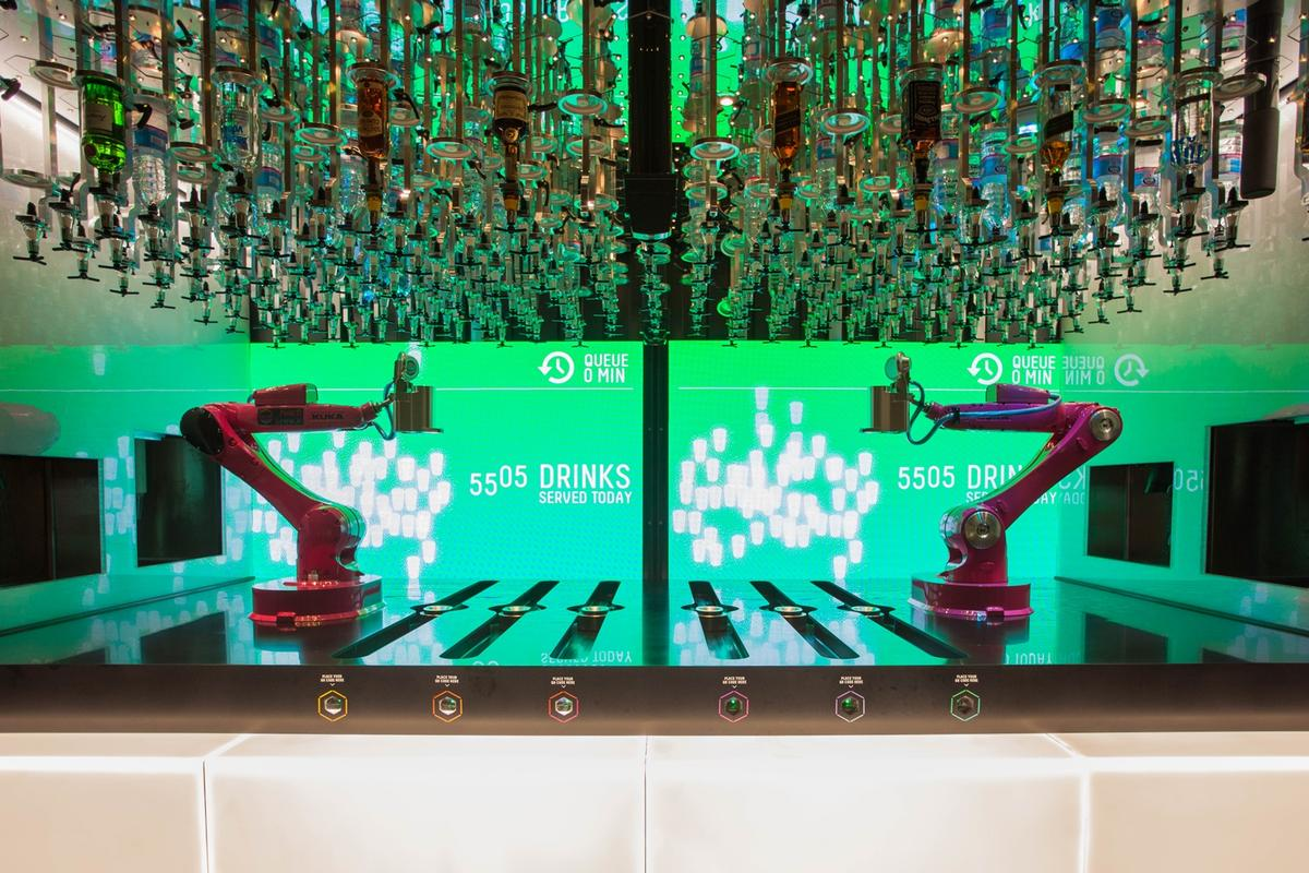 The Makr Shakr robotic bar can shake, stir, muddle, strain and pour more than 40 different ingredients