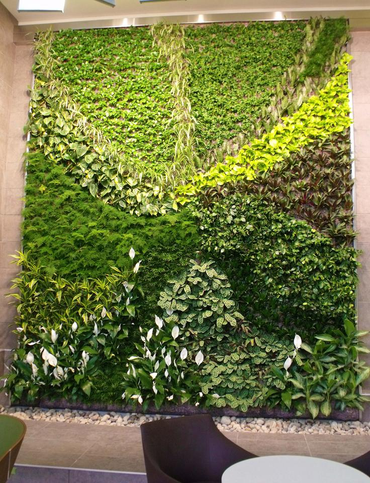 The living wall features work inspired by artist Donald Flather