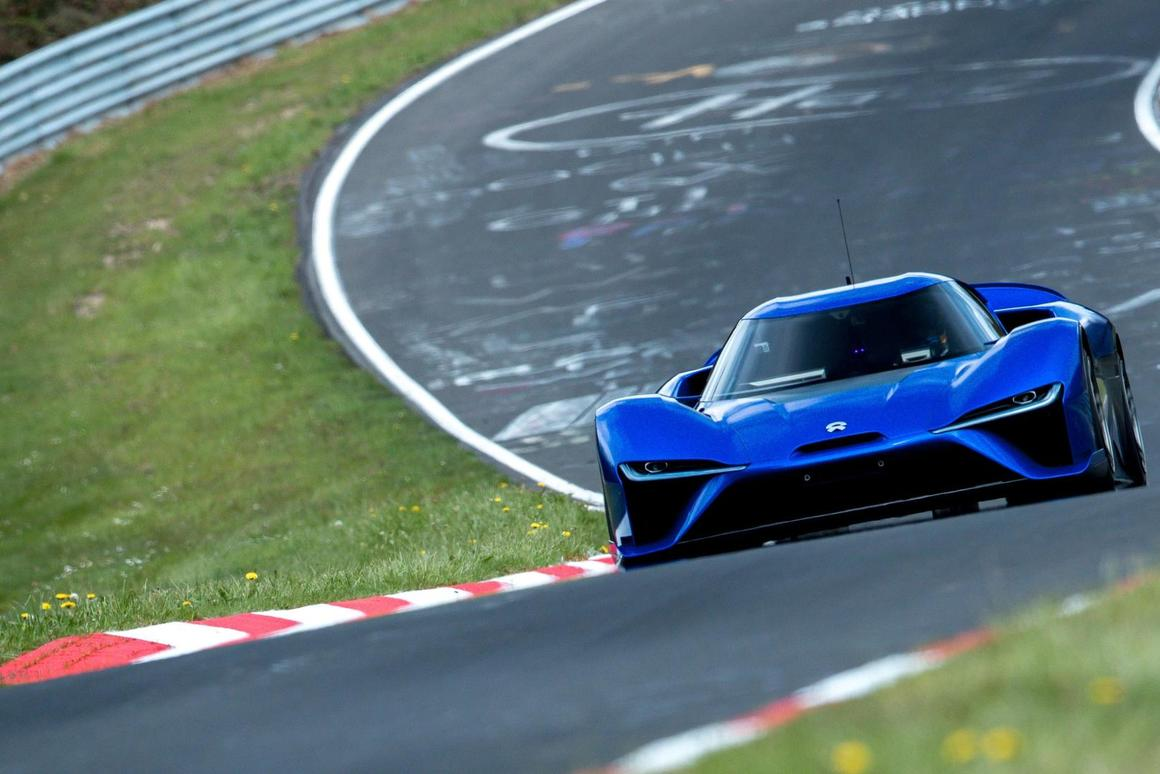 The NIOEP9 lapped the NurburgringNordschleife in 6:45.900