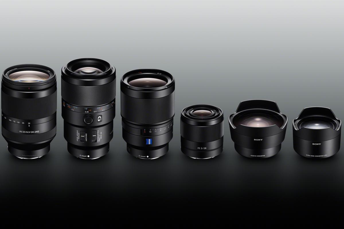 Sony has given its line-up of FE full frame E-mount lenses a significant boost with four new lenses and two new converters