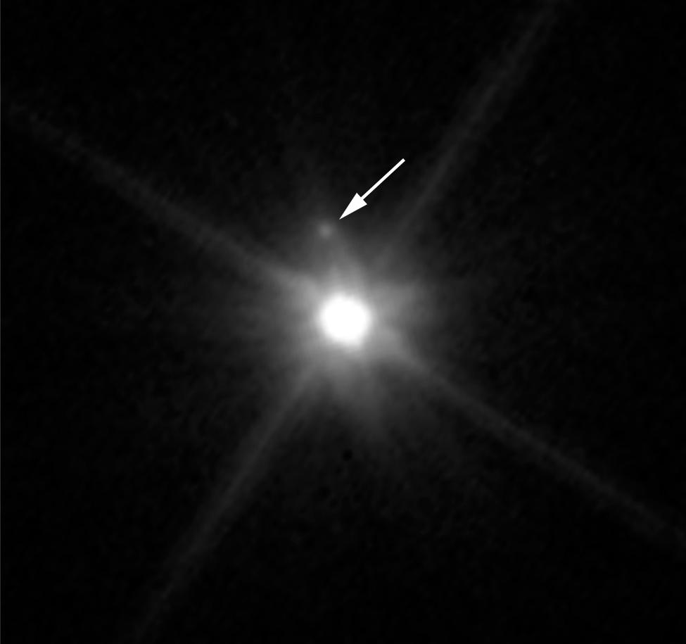 Hubble image of Makemake and MK 2