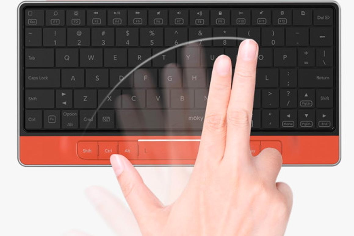 Moky Bluetooth keyboard is also a trackpad