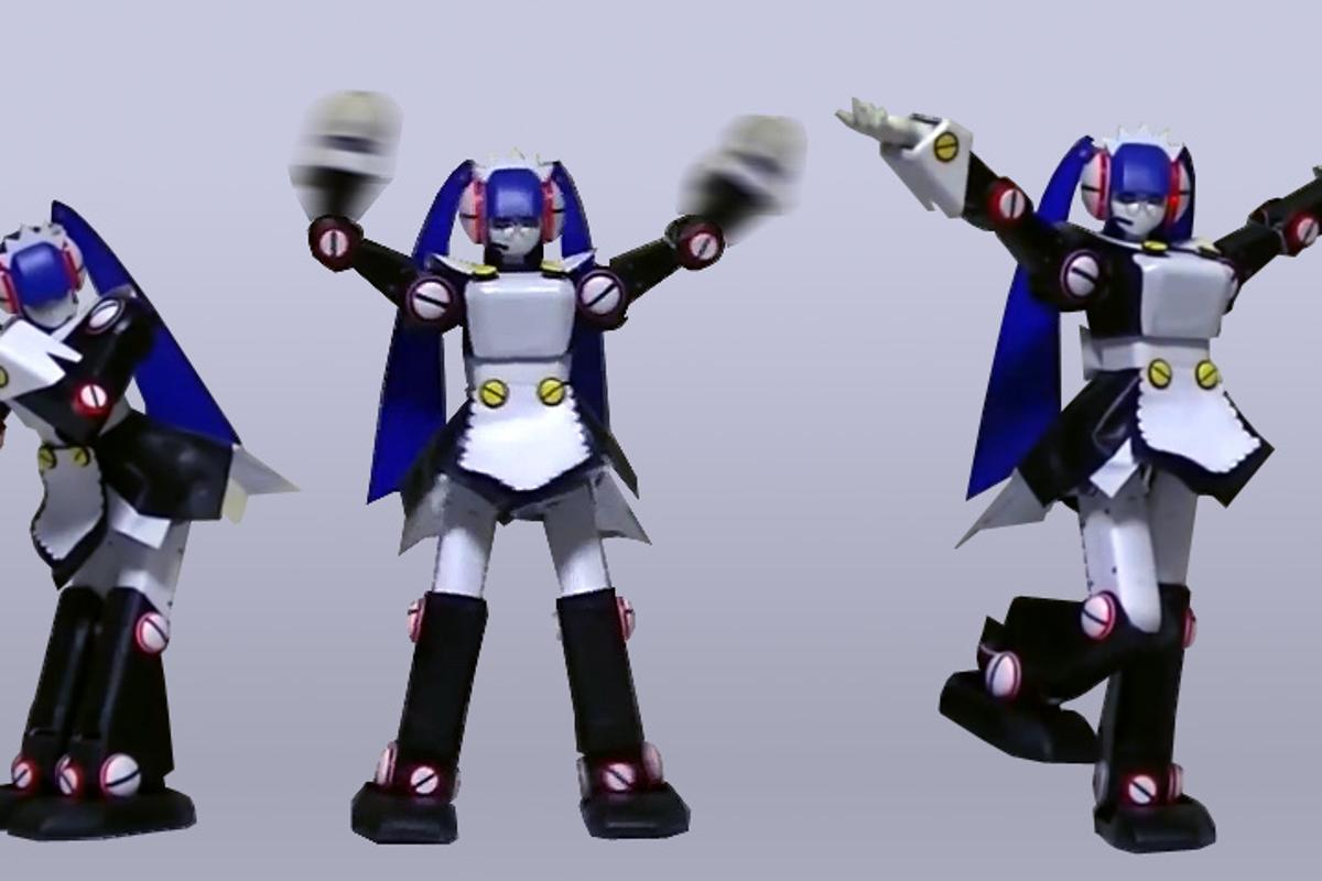 Dr. GIY's Pre-made Me is a 52 cm tall dancing robot maid (Photo: Dr. GIY)