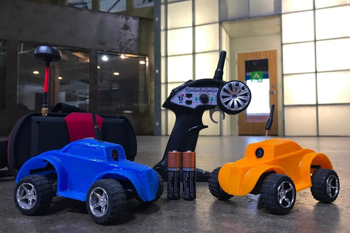 Gnarly Racers, in 3D-printed prototype form