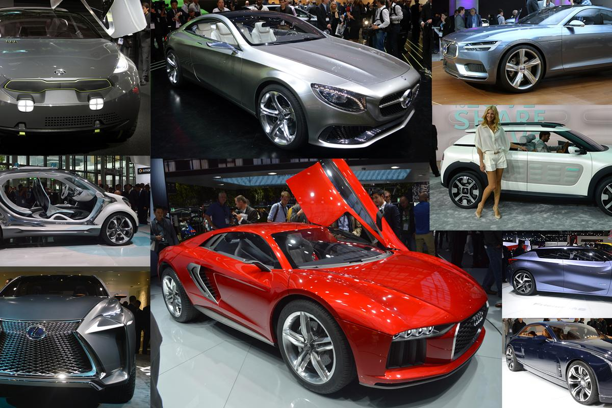 It was a conceptual feast for the eyes at the 2013 Frankfurt Motor Show