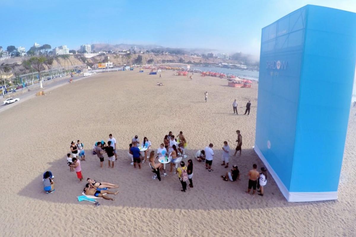 Shadow Wi-Fi entices sun worshippers into the shade by connecting them with free internet