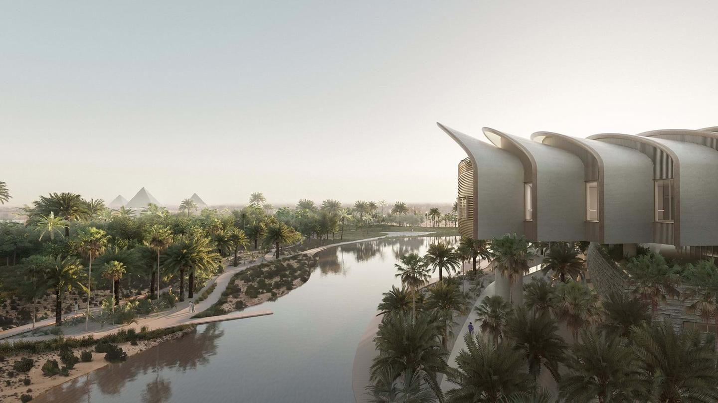 The Magdi Yacoub Global Heart Centre will be topped by a sculpted shell-like roof