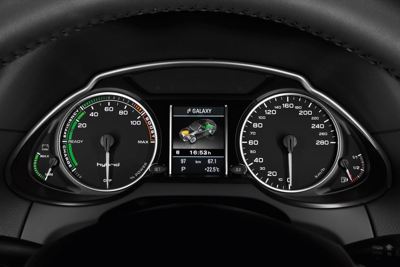 The Audi Q5 hybrid quattro dash