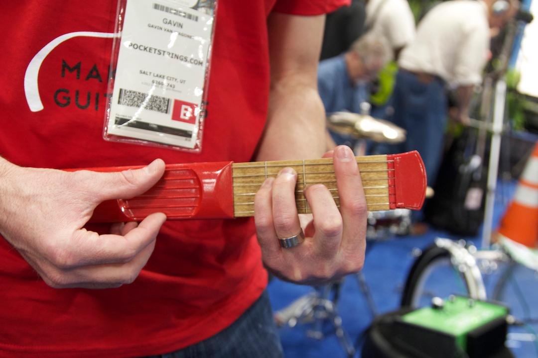 PocketStrings were on show at NAMM 2012 (Photo: Gizmag)