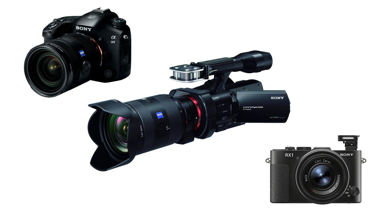 Sony has announced three new full-frame cameras - the Cyber-shot DSC-RX1 compact, the new flagship Alpha SLT-A99 and the NEX-VG900 Handycam