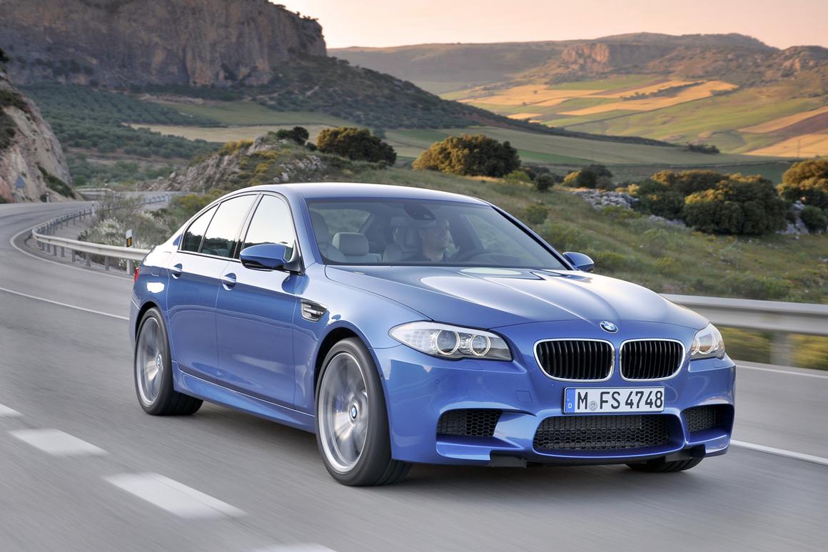 The fifth generation of BMW's M5 high performance saloon