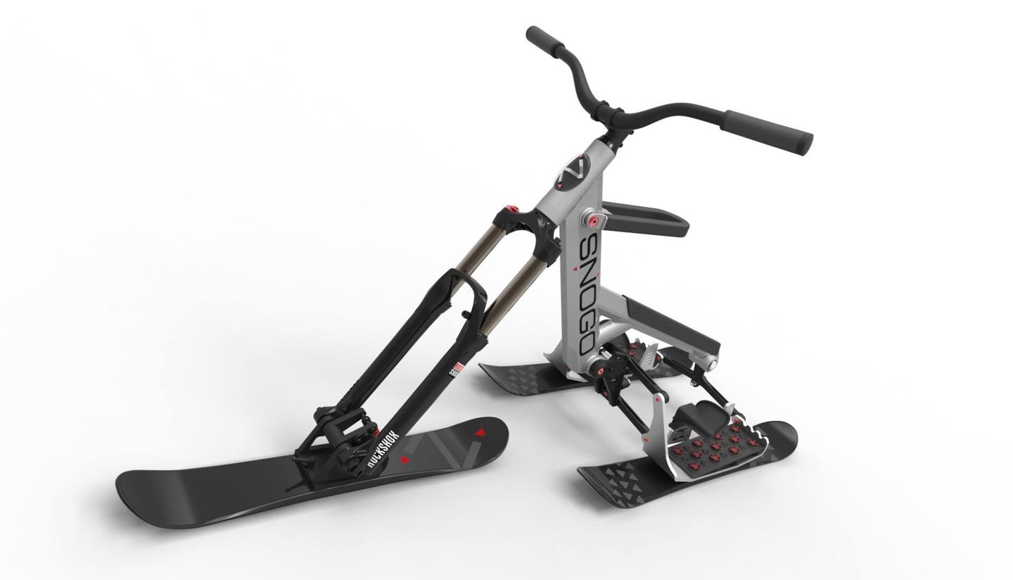 The Snogo features a suspension fork for smooth, rattle-free riding