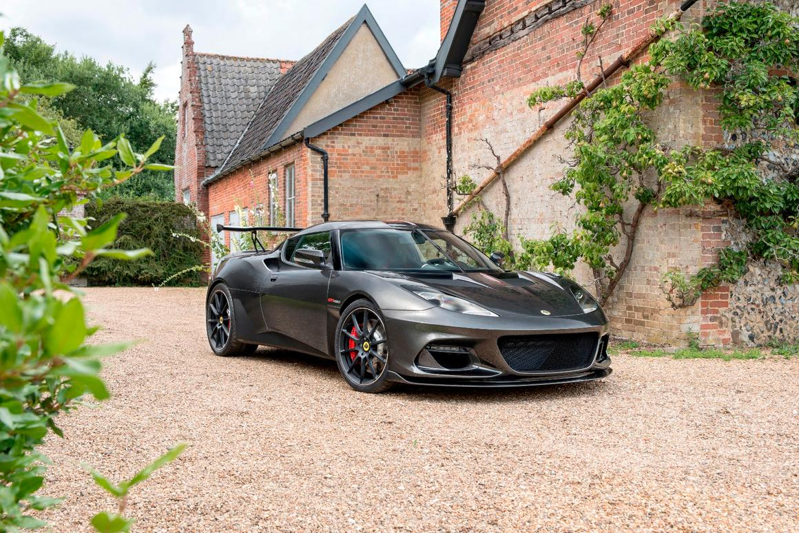 Carbon fiber has been used for the new aero addenda on the Evora