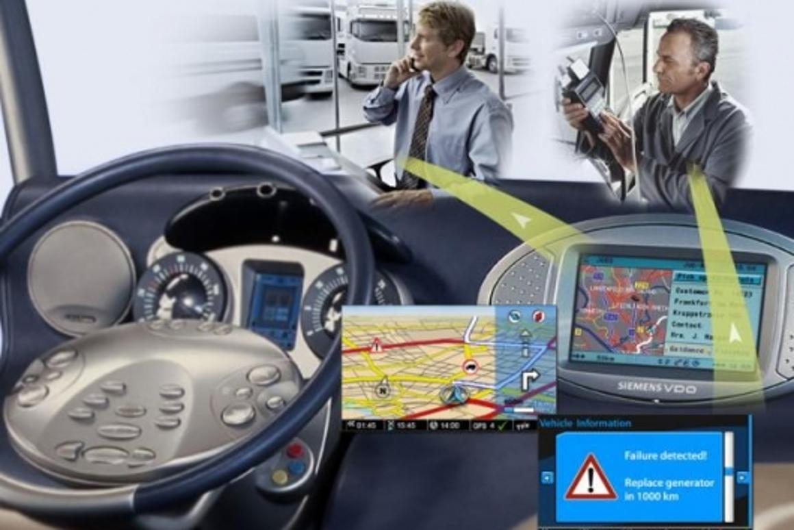 Siemens VDO control centre for vehicle fleets