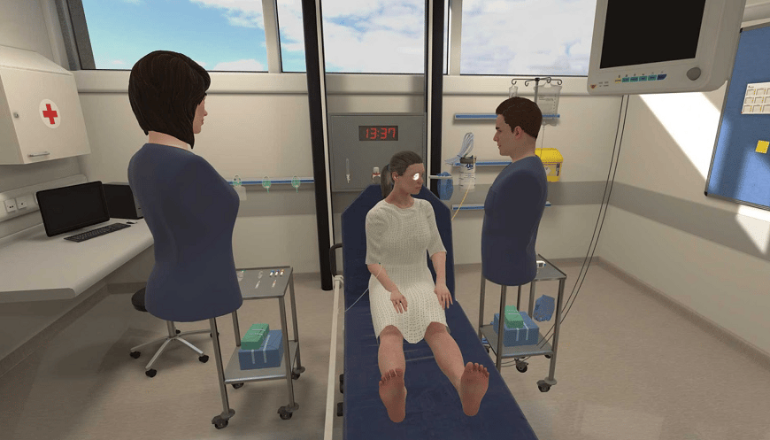 Students are presented with 20 virtual scenarios t