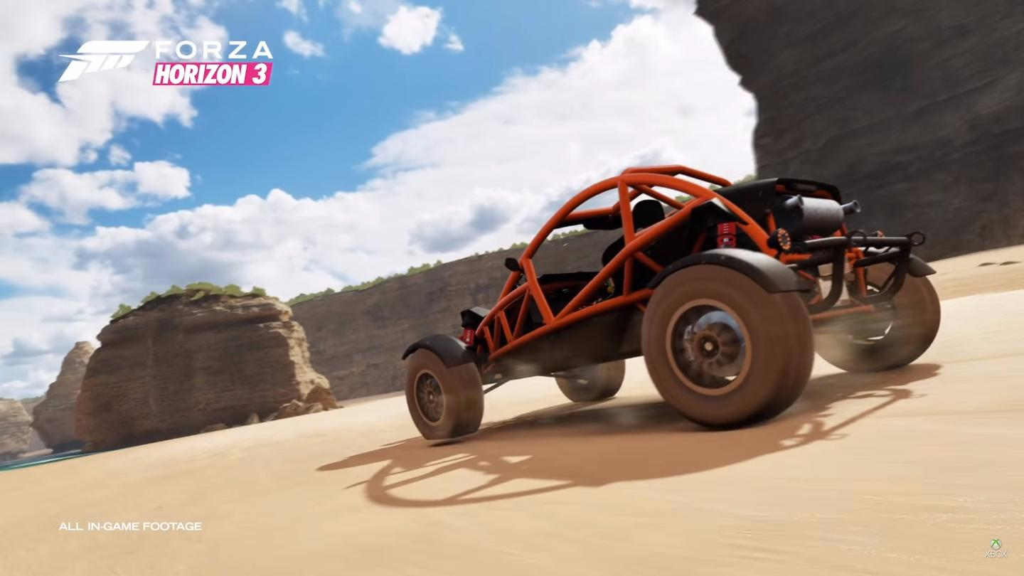 Forza Horizon 3 takes place is Australia, features co-op racing, and looks like it'll definitely keep up the momentum of the series
