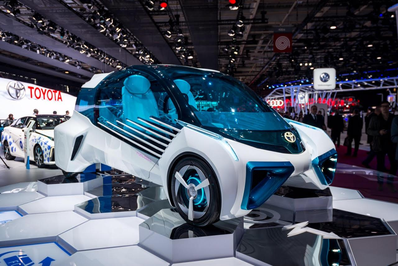 "The FCV Plus concept car is designed to double as a clean energy source and to operate as part of the ""electric power-generating infrastructure"""