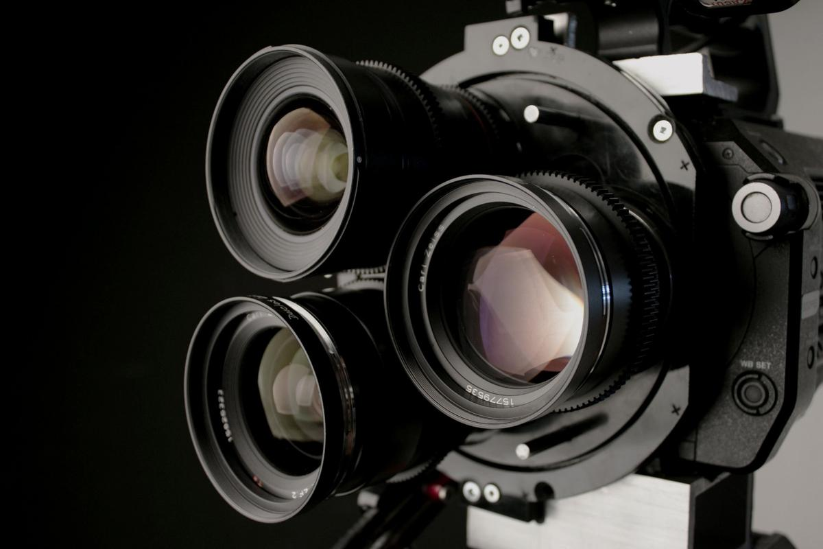 The MultiTurret allows modern film makers to quickly swap between three lenses without needing the help of an assistant