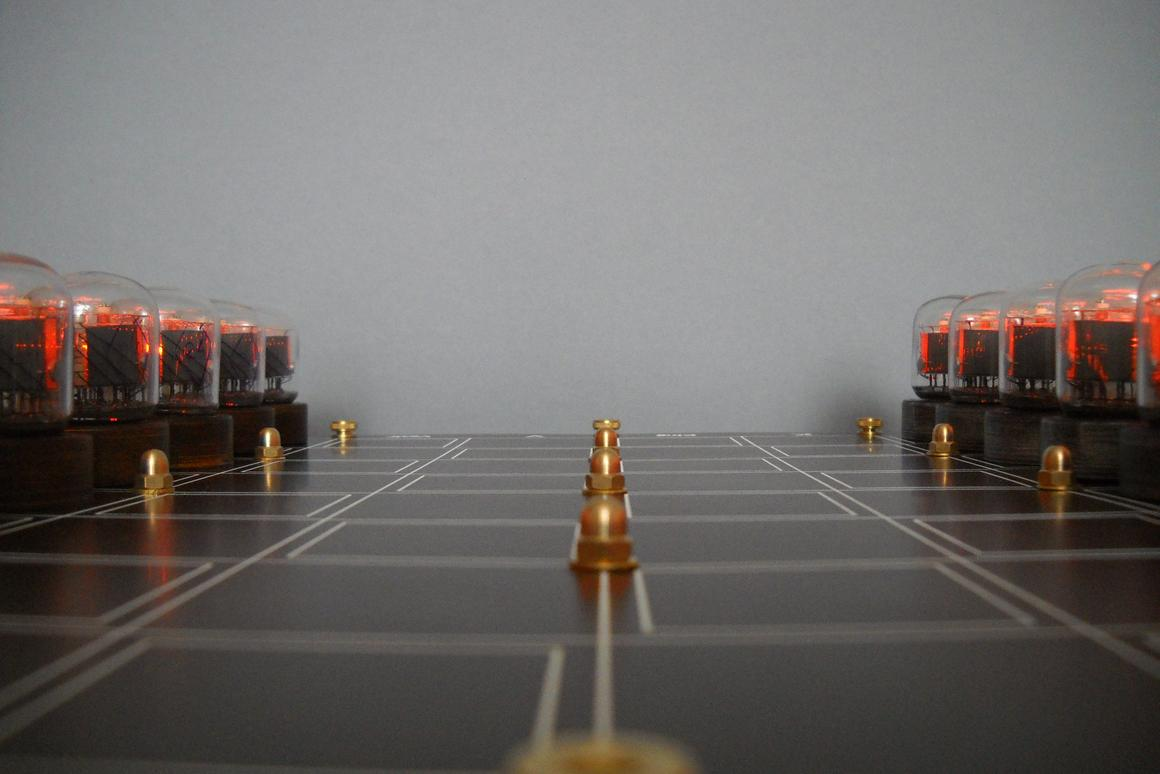 The gorgeous Nixie tube chess set made by Tony Adams is now being made available as a limited number of self-build kits