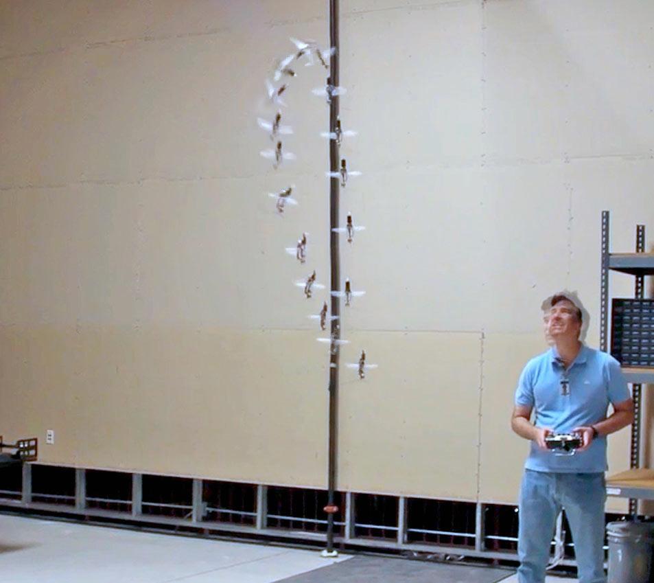 The Nano Hummingbird doing a 360 degree loop