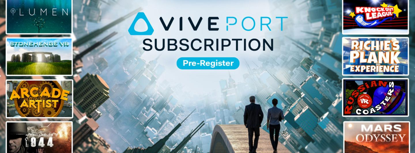 Viveport subscription plans launch April 5