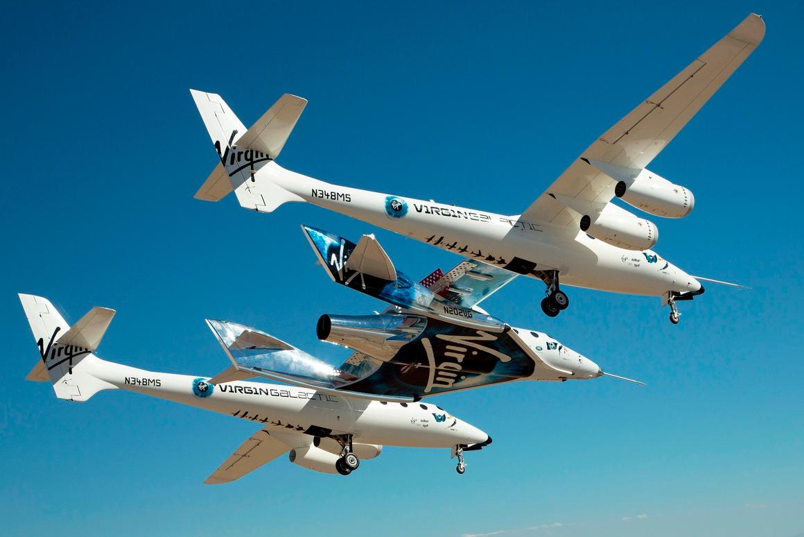 The flight lasted almost four hours over the Mojave Desert