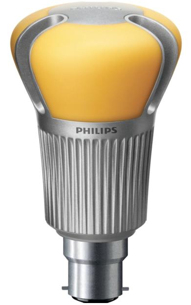 A Philips 60-W LED light bulb equivalent
