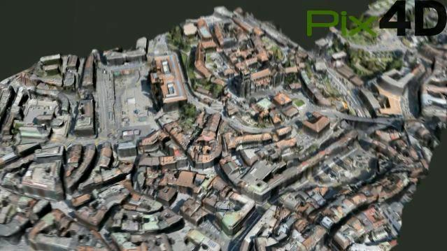 Pix4D is a program that creates 3D aerial images by combining hundreds of 2D photographs, shot by an unmanned aerial vehicle (Image: Pix4D)