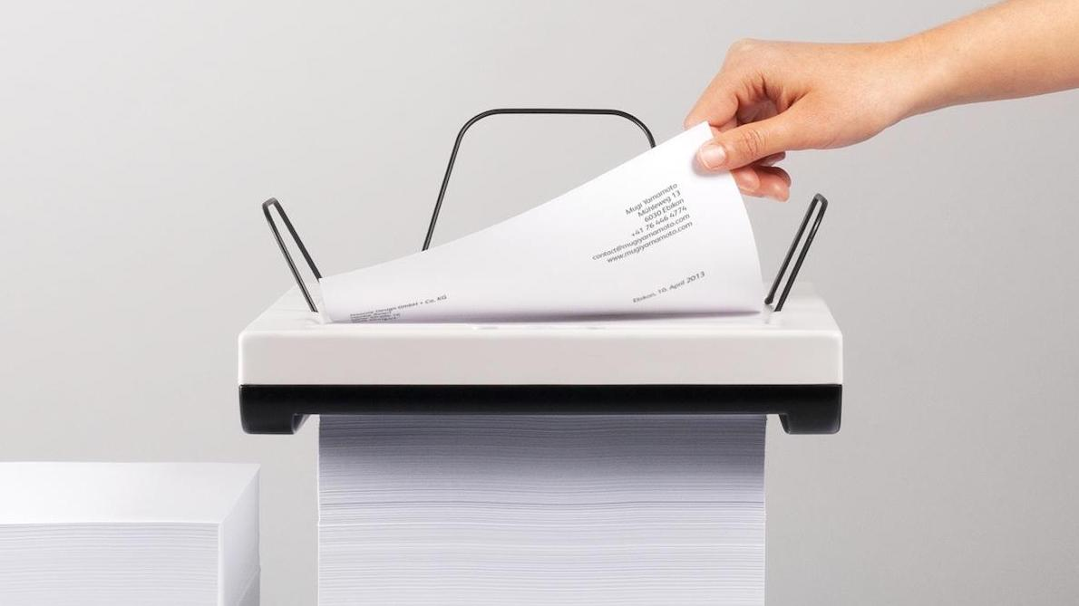 The Stack is an inkjet printer that does away with the need for a paper feed tray