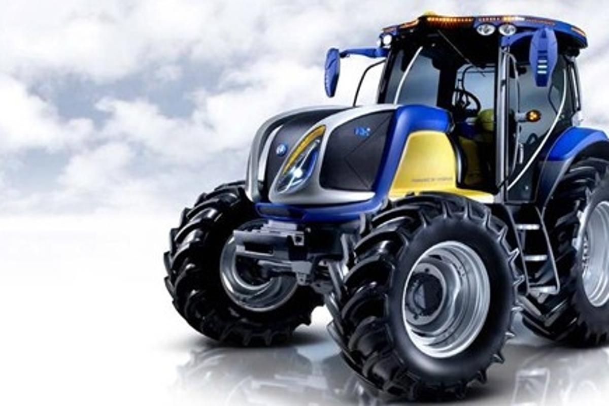 New Holland's prototype NH2 hydrogen powered tractor
