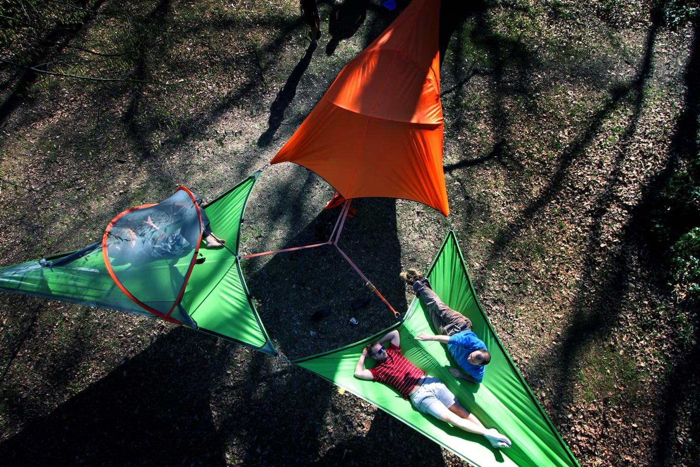 Like its predecessors, the Connect rests above-ground (Photo: Tentsile)